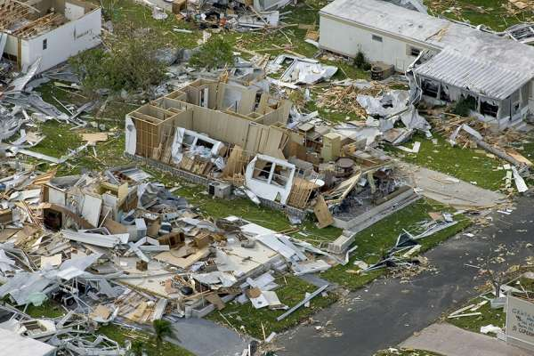 Hurricane damage in Puerto Rico
