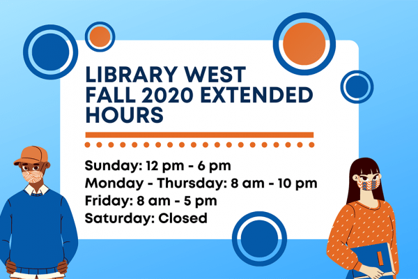 Library West Extended Hours graphic