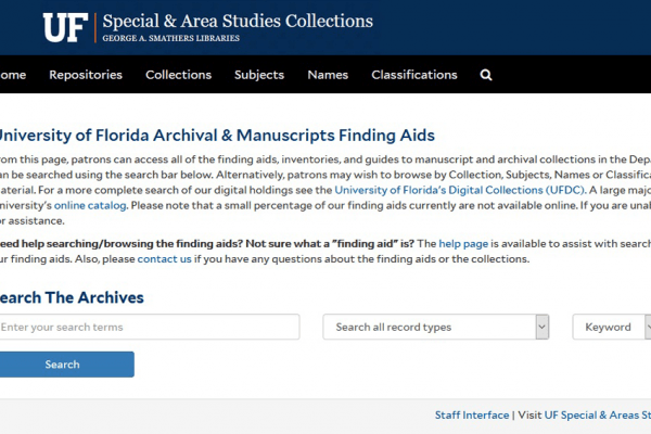 news post for Finding Aids website