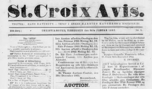 Front page St. Croix Avis